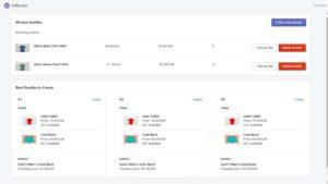Shopify application ZeBundler Homepage