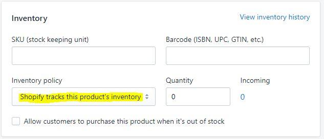 Inventory option shopify bundle